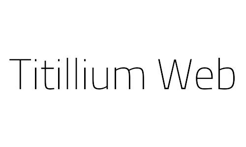 titillium web free thin fonts