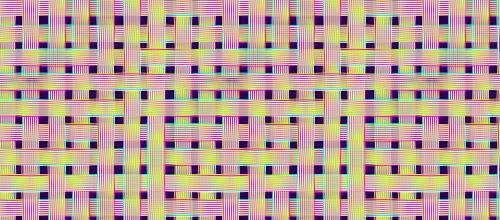 neon free weave pattern