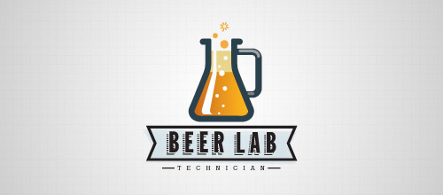 beer lab technician logo