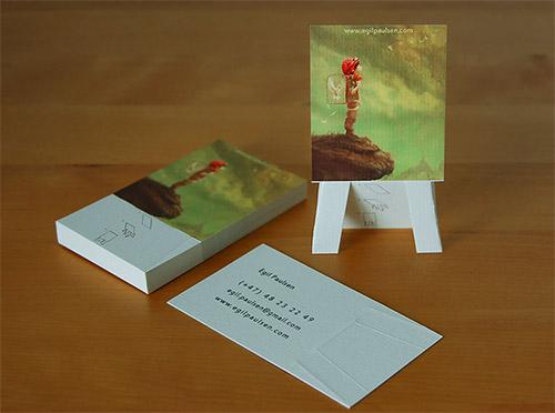 easel business card design folded