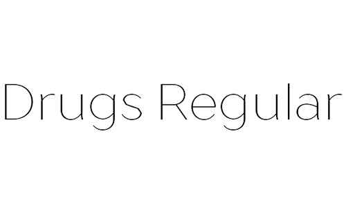 drugs free thin fonts