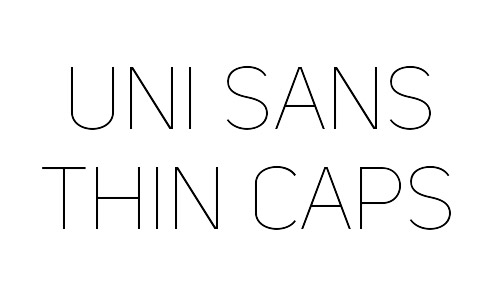 uni sans free fonts thin
