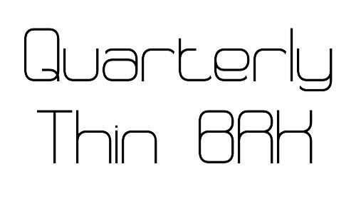 quarterly brk free thin fonts