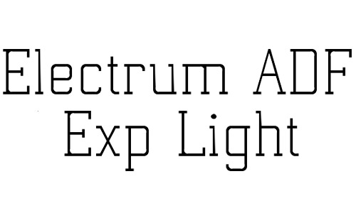 electrum adf free thin fonts