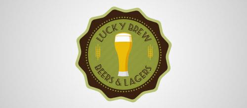 lucky brew beer logo