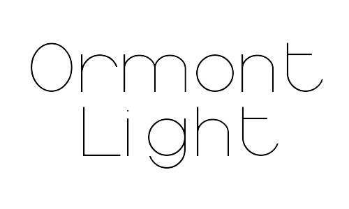 ormont free thin fonts