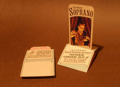 pop up folded business card