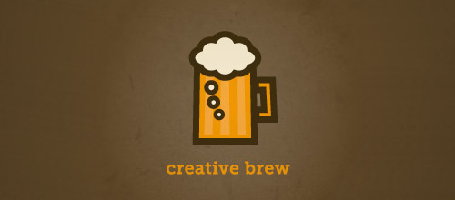 creative brew beer logo