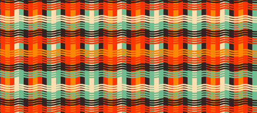free orange weave patterns