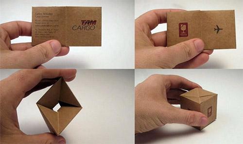 tam cargo folded business card