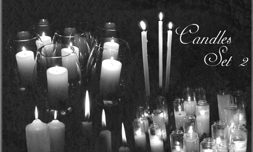 candle set brushes photoshop