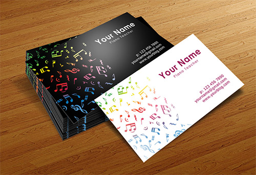 musician business card templates