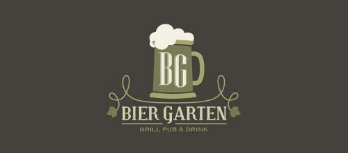 bier garten logo beer