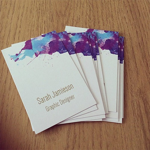 business card design watercolor