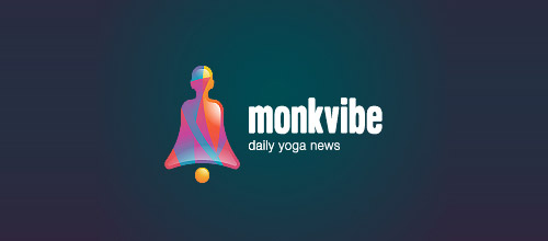 monkvibe logo design bell