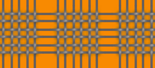 orange basketweave patterns