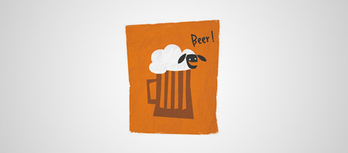 beer logo sheep