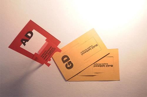 chair folding business card