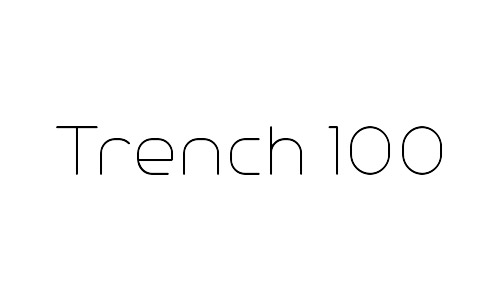 trench free font thin