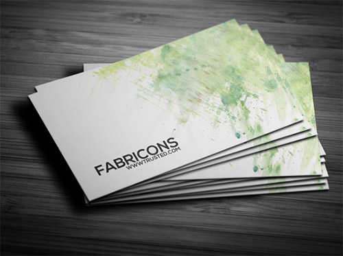 watercolor corporate business card