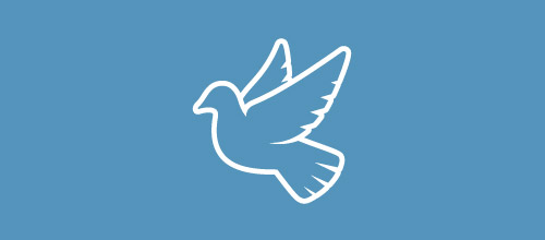 white dove logo design
