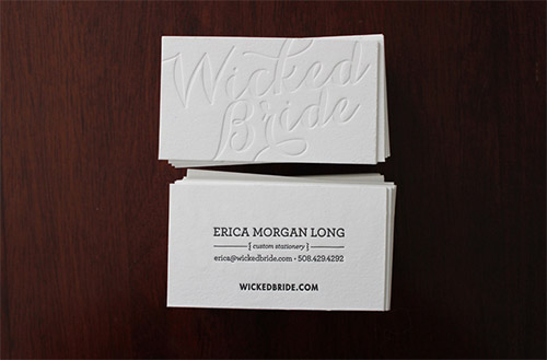 blind deboss business card