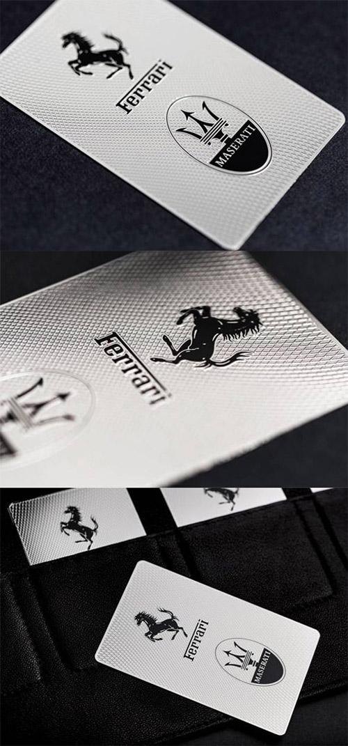 Ferrari textured business card