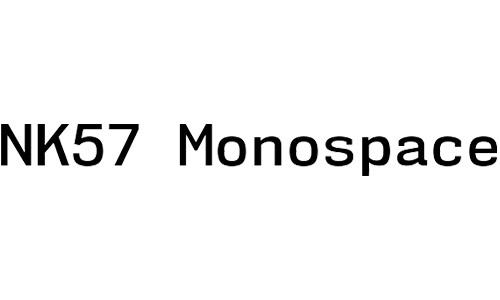 nk57 monospace free bold font