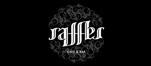 raffles ambigram logo design