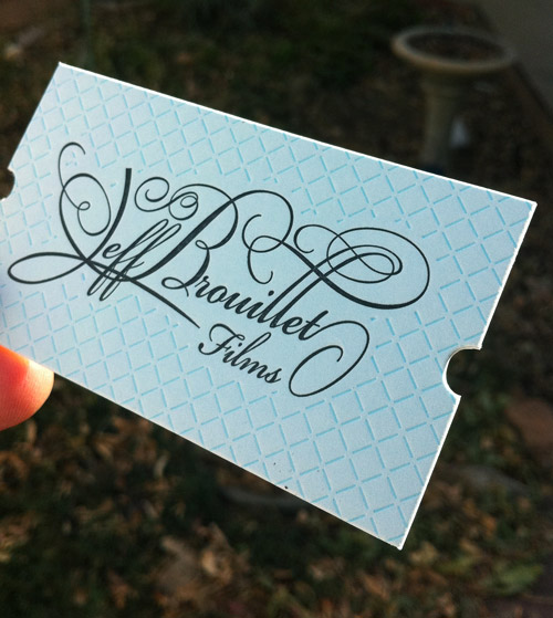 brouillet business card textured