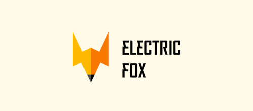 electric fox logo design