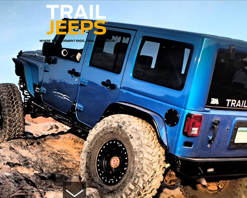 trail jeeps website design