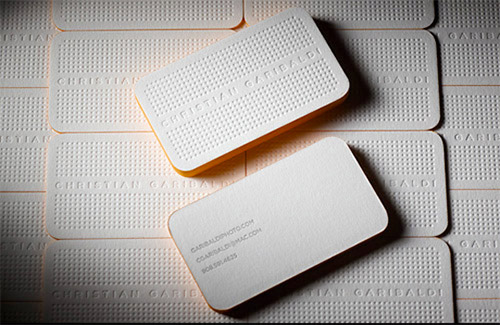 Christian garibaldi textured business card