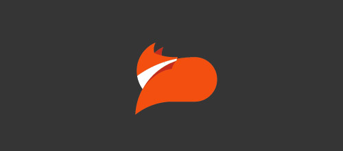 lazy fox logo design
