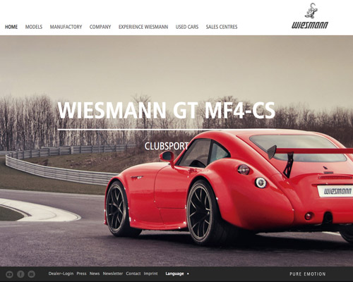 wiesmann automotive website design