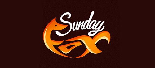 sundayfox fox logo design