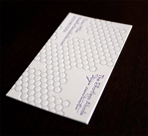 honeycomb textured business card