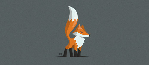 lil fox logo design