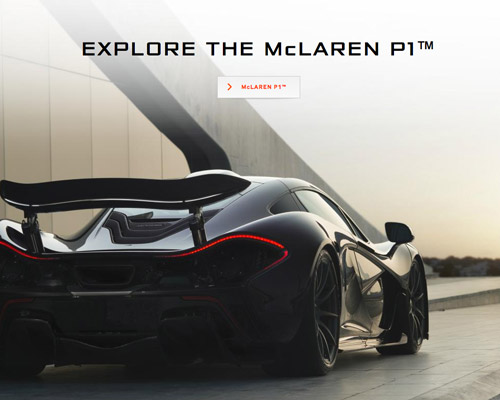 McLaren car website design