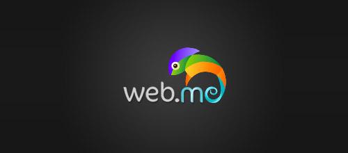 web me chameleon logo design