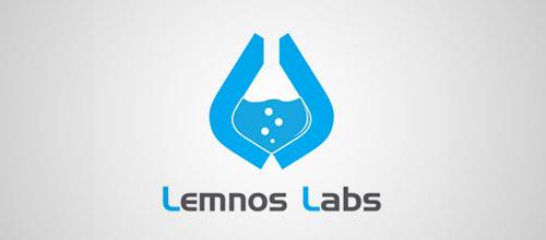 lemnos labs tube logo design