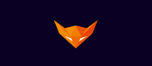 foxpolygon fox logo design