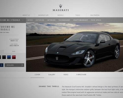 Maserati car website design