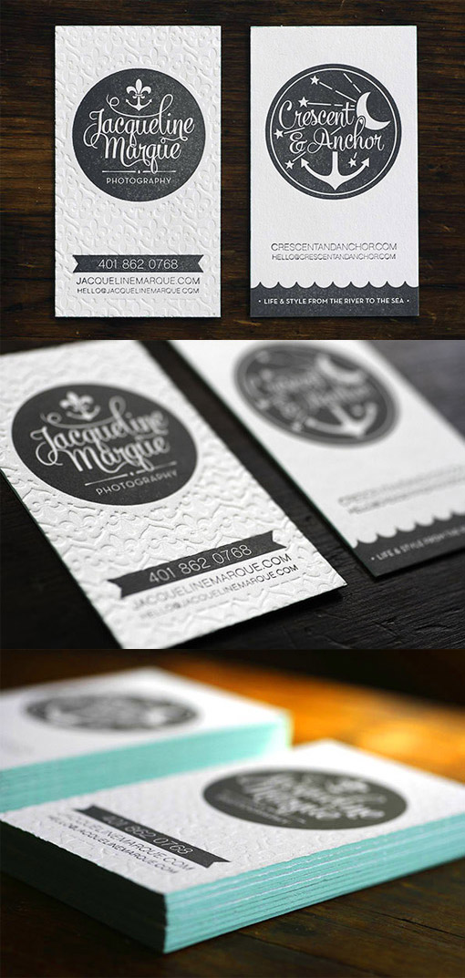 textured edge business card