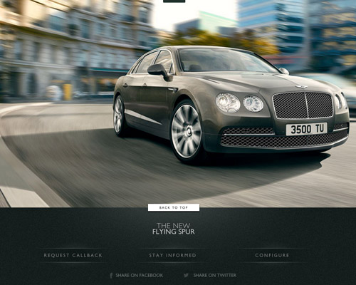 Bentley flying spur car website design