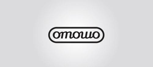 omowo ambigram logo design