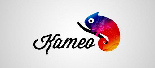 kameo chameleon logo design