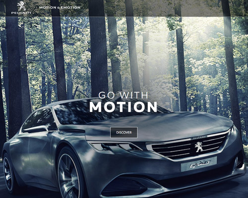 Peugeot car website design
