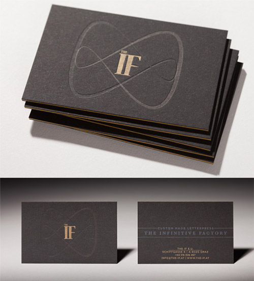 sleek blind deboss business card