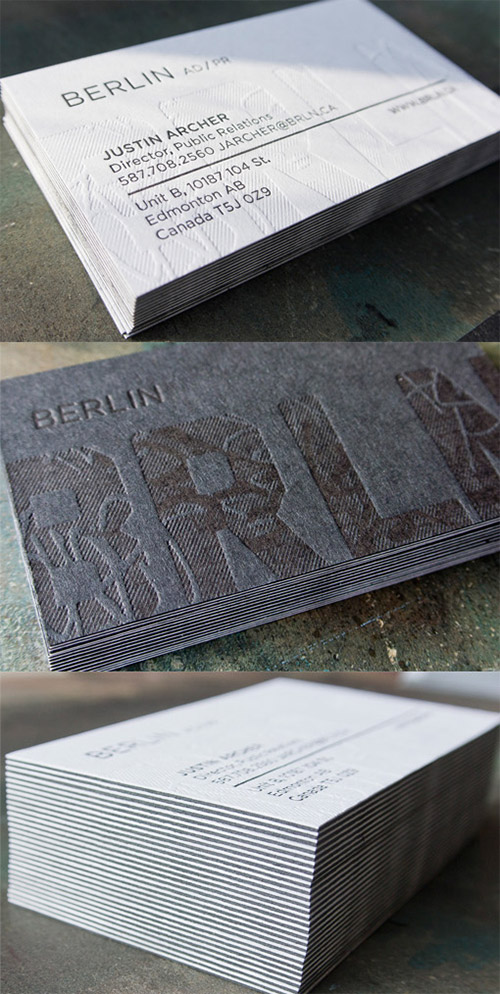 unique textured business card